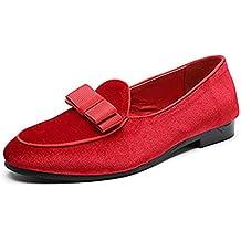 Hombres Gamuza Mocasines Vestidos de Novia Zapatos Caballeros Formales