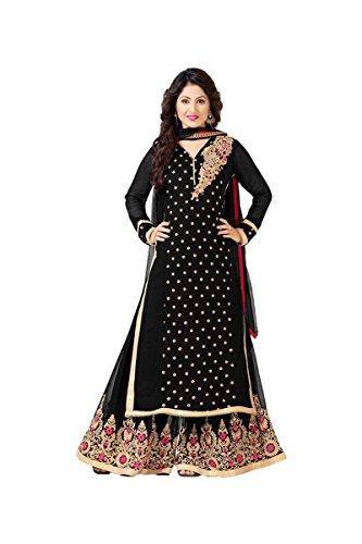 Sainent Spacial Black Plazo Semi-Stitched Suit Suit salwar suits for women salwar suit salwar suits for women stitched salwar suits for women anarkali salwar suits for women salwar suits for women patiala salwar for women salwar kameez S8031