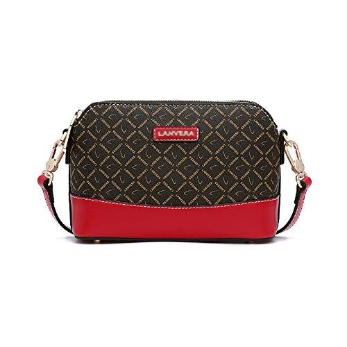 MIMI KING Frauen Messenger Bag Kleine Geldbörse Crossbody Mode Muster Umhängetasche Mini Casual Handtasche,Kaffee