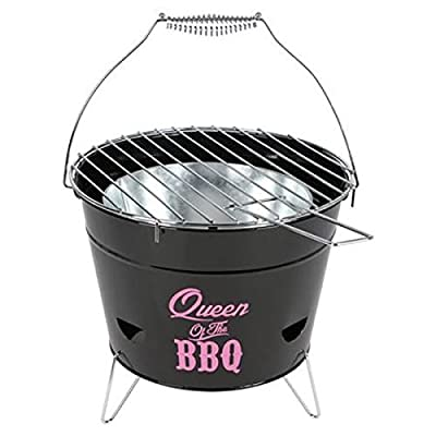 Buri Grilleimer Ø28cm Campinggrill Picknickgrill Eimergrill Partygrill Balkongrill, Variante:Queen