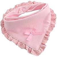 gperw Toalla de saliva de triángulo para recién nacido, impermeable, de encaje, con diseño de flores, toalla de saliva