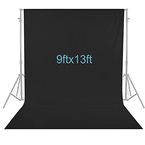 Neewer 9 x 13 Fuß / 2,8 x 4 Meter Fotografie Hintergrund Foto Video Studio Stoff Hintergrund Bildschirm (schwarz)