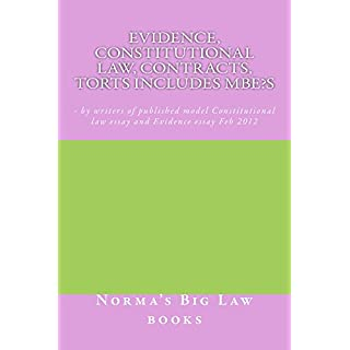 Evidence, Constitutional law, Contracts, Torts Includes MBE's: A Jide Obi aw book*