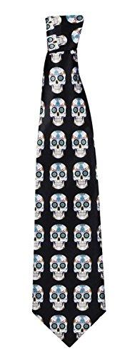 Zauberclown - Halloween Kostüm Accessoire Skelett Krawatte Day of Dead, 130cm, (Kostüm Dead Devil)