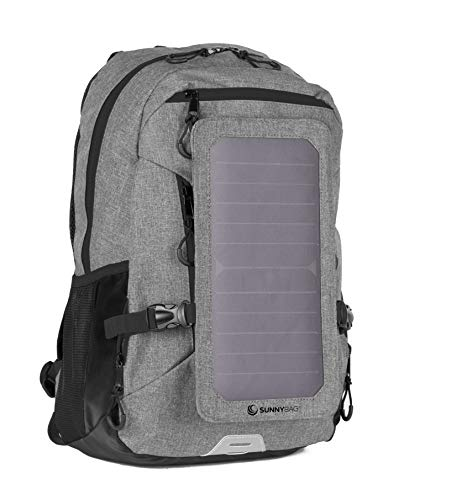 SunnyBAG Explorer+ Backpack with Solar-Panel | solarbag Solar Charger | World's Strongest solarpanel for Smartphone Charging on The go | Gr...