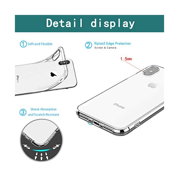 Oihxse Compatible with iPhone XR 6.1'' Case Cover Crystal Clear Ultra Slim Lightweight Soft TPU Gel Bumper, Chic Fashion Pattern Design Transparent [Original Beauty] Shockproof Skin, White Bear Oihxse ✨【SLIM FIT】ONLY compatible with iPhone XR without bubbles, bubbles smudges, slippy and clinging, which provide a great hand feel & comfortable grip, easy put in and take off from pockets. ✨【CRYSTAL CLEAR】Cute and stylish pattern prints on the crystal transparent slim IPhone XR case, not only shows off the original beauty but adds more chic, fashion and elegant sense, makes you stand out from crowd and eye-catching. ✨【PREMIUM MATERIAL】Made from nontoxic and tasteless flexible TPU material, non fade and peel off. It can resist Iphone XR bumps, drops, scratches, impacts, shocks and fingerprint. 5