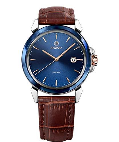 Jowissa LeWy 3 Swiss J4.238.L - Reloj de Pulsera para Hombre, Color Azul, marrón y Plateado