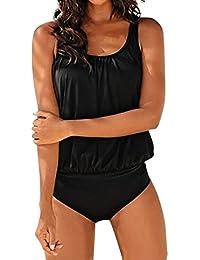 SHOBDW Mujeres Más Tamaño Impreso Tankini Bikini Traje de Baño ...