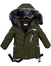ARAUS Cappotto con Cappuccio da Unisex Bimbo Giubbino Impermeabile Incappucciato Collo MAO Inverno 0-7 Anni