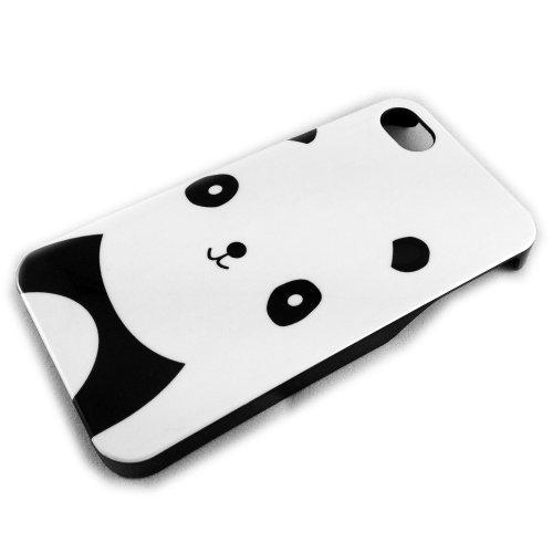 thematys Apple iPhone 4/4S HARD CASE PANDA Bär CRO Rapper Design Schutz-Hülle Hard Case Schale Etui Panda-design Hard Case