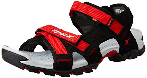 Sparx Men's SS0447G Black and Red Athletic and Outdoor Sandals - 10 UK/India (44.67 EU) (SS-447)