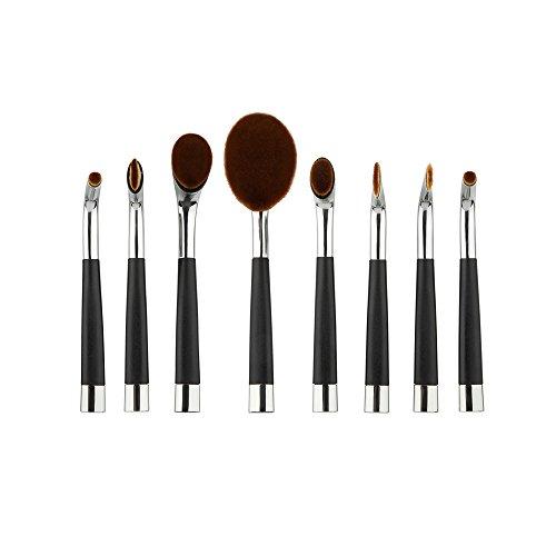 Tefamore 8Pcs Maquillage ToothBrush Cosmétiques Poudre Fondation
