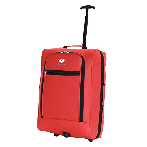 Slimbridge Montecorto super leggero 55 cm bagaglio a mano con ruote, Rosso