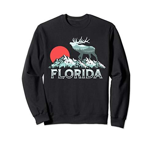 Vintage Florida Elk Hunter Conservation Retro Graphic Sweatshirt Florida-retro-sweatshirt