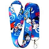 Blue Snoopy Lanyard Key Chain Holder by Unknown