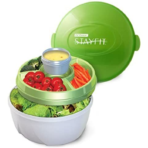 Stay Fit Deluxe Salad Kit, EZ Freeze by Cool Gear Stay-Fit