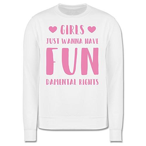 Statement Shirts - Girls just wanna have fundamental rights - Herren Premium Pullover Weiß