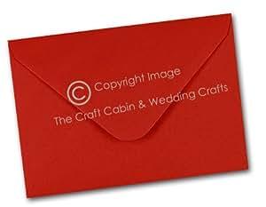 C7/A7 de 50 Mini enveloppes Rouge écarlate