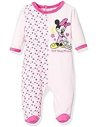 Pyjama velours bébé fille Minnie Rayé Rose et Violet de 3 à 23mois