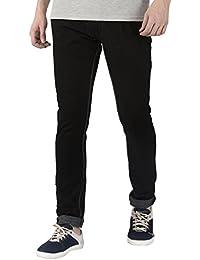 JUGEND Black Cotton Stretchable Slim fit Jeans for Men