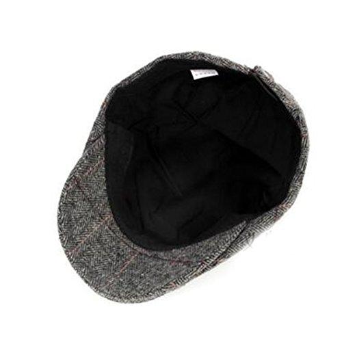Nanxson(TM) Béret/Chapeau Plat En Laine À La Mode Gentleman Chaud Pour Hommes MZM0038 Gris