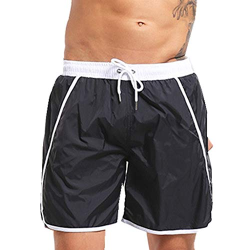 116f45c703 Hombre Pantalones Cortos De Playa BañAdor Hombre Chico Playa PoliéSter  Pantalon Corto Hombre Deporte Secado RáPido BañAdores Natacion Ligero Moda  Shorts ...