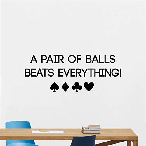 fkleber Poker Wandtattoo Spielkarten Chips Casino Motivations Schriftzug Poster Aufkleber Raum Schlafzimmer Kunst Dekor Wandbild 100 x 38 cm ()