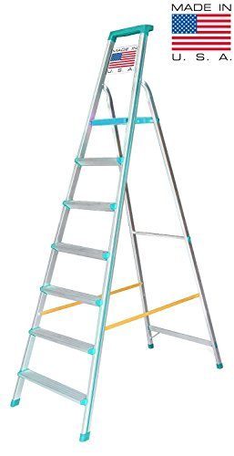 Euro Pro Household Aluminium Step ladder 7 Steps - Folding - Tool Tray - ABS Platform - Ultra Light Weight  available at amazon for Rs.6980