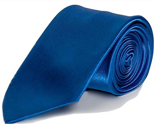 Krawatte Premium - Slim Tie Business Hochzeit Party Anzug Schlips (Blau)
