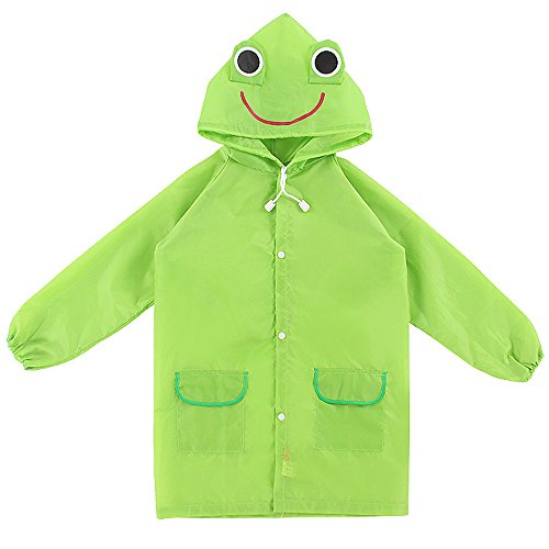 Children Kids Cartoon Animal Pattern Rain Coat Waterproof Raincoat
