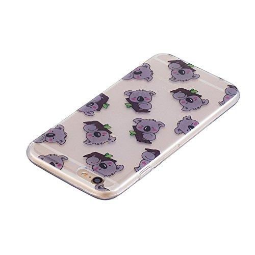 iPhone 6S Plus Hülle, Voguecase Silikon Schutzhülle / Case / Cover / Hülle / TPU Gel Skin für Apple iPhone 6 Plus/6S Plus 5.5(Rohr Katze 01) + Gratis Universal Eingabestift Koala 01