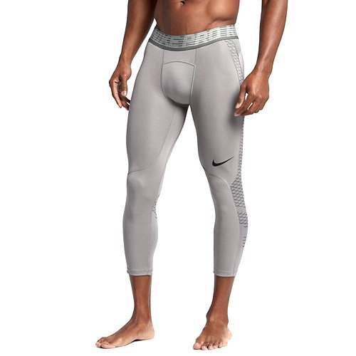 Nike Herren Pro Hypercool 3/4 Tights, Dust/Tumbled Grey/Black, L (Pro Thermal Tight)