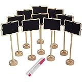 officematters Mini Pizarras con Soporte para Signos de Mensaje en Tablero, Rectángulo, Set de 10