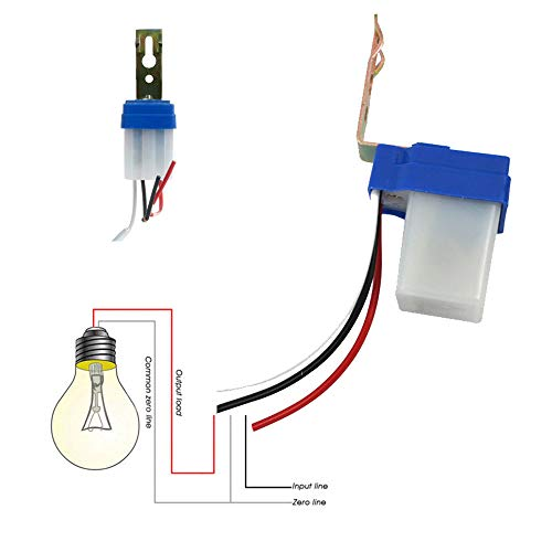 Photocell the best Amazon price in SaveMoney.es on wiring photocell light sensor, wiring photocells for outdoor lights, 2 wire photocell,