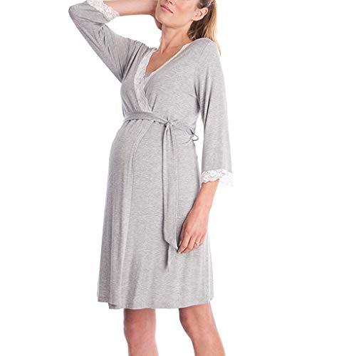 Wiivilik Mujeres Vestido Maternidad Madre lactante