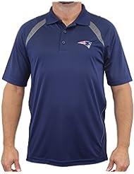 "New England Patriots Majestic NFL ""Winners"" Men's Short Sleeve Polo Shirt Chemise"