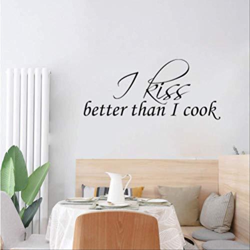 qwerdf Wandaufkleber Ich Küsse Mehr Als Mein Koch Art Zu Hause Dekorative Wandaufkleber Zu Hause Koch