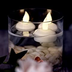 Idea Regalo - AGPTEK - Set di 12 Candele galleggianti a LED, Senza Fiamma, Impermeabili, galleggianti, per Decorazione di Matrimoni, Feste, casa, Colore: Bianco Caldo