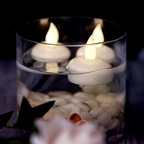 AGPtek 12 LED Candele galleggianti impermeabile Party floreale decorazione di nozze senza fiamma candela bianco caldo