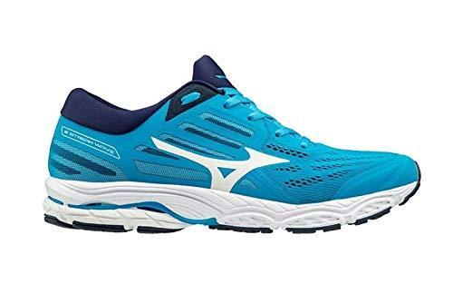 Mizuno Men Wave Stream 2 Neutral Running Shoe Running Shoes Blue - White 7