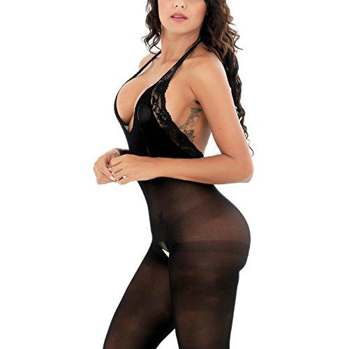 Damen Unterwäschen Reizwäsche Netz Strumpfhose Bodystockings Jumpsuit Frauen Bodysuit Nachtwäsche Dessous