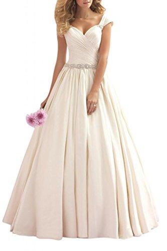 Gorgeous Bride Elegant Traeger A-Linie Satin Lang