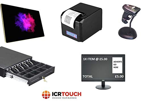 Retail Point of Sale Pos Epos System mit LCD Kunden-Display ICRTouch