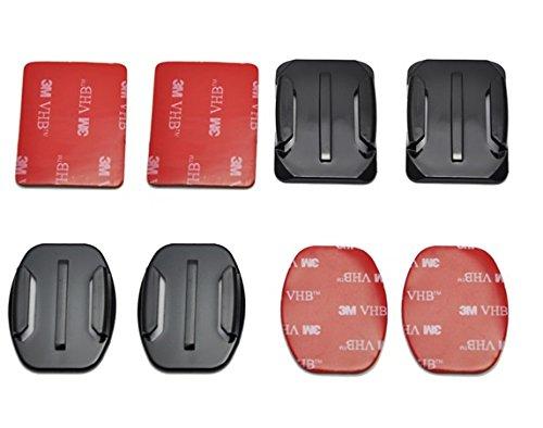 4x Klebepads Pads gerade Flat 3M ungerade curved passend für die GoPro 2 3 3+ 4 4+ Action-road-boot