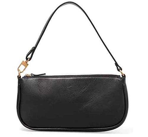 Damen Schultertasche Krokodilmuster Leder Baguette Unterarm-Paket Frauen Clutch Bag, Retro Krokoprägung Schultertasche Handtaschen (E, 28.5 * 4 * 13.5cm)
