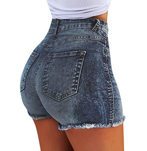 Tomatoa Frauen Shorts Kurze Hosen Denim für Damen Sommer Damen Jeansshorts Kurze Hosen Denim Kurze Hose Modern Zerrissen Hosen Sommerhosen Hotpants S- 3XL -