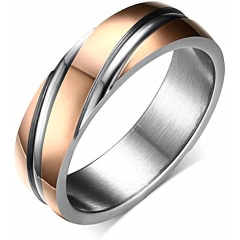 Alimab gioielli anelli donna Acciaio inossidabile Banda nozze Saia