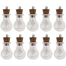Baoblaze 10 Unids de Mini Botella de Vidrio Suministros de Joyería Organizador de Capasulas