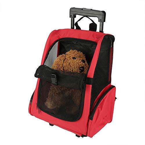 Zerone Portable Pet Travel Carrier zaino porta bagagli, PET trolley da viaggio impermeabile cane gatto su ruote, zaino Rolling Cat & Dog scatola portatutto con manico telescopico, 51* 39cm
