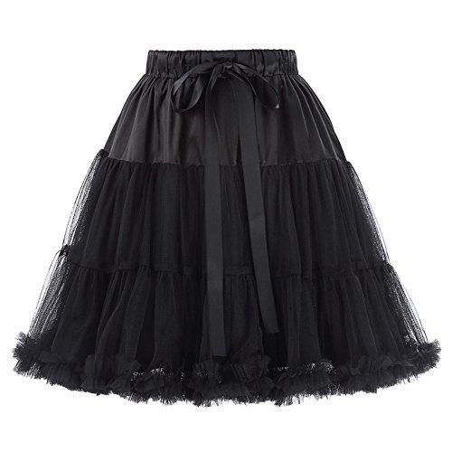 petticoat underskirt unterrock Crinoline Wedding bridal rockabilly petticoat schwarz Größe S-M BP226